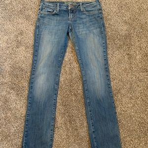 🔥30%OFF🔥American eagle blue straight jeans 6reg